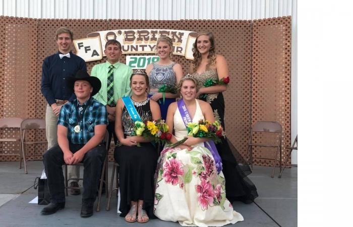 O'Brien County Fair Royalty 2018